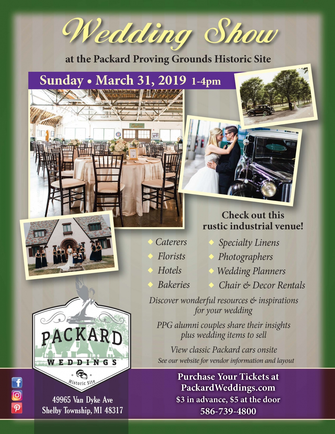 Packard Proving Grounds Wedding Show 2019