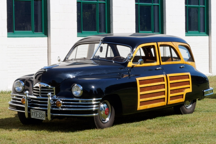 1948 black station sedan